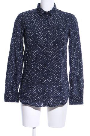 s.Oliver Langarm-Bluse blau-weiß Punktemuster Casual-Look