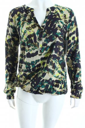 s.Oliver Langarm-Bluse abstraktes Muster Casual-Look