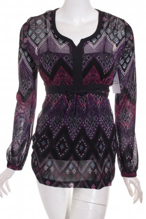 s.Oliver Langarm-Bluse abstraktes Muster Gypsy-Look