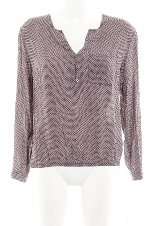 s.Oliver Langarm-Bluse altrosa-grau abstraktes Muster Casual-Look
