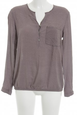 s.Oliver Langarm-Bluse altrosa-schwarz Casual-Look
