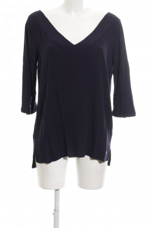 s.Oliver Langarm-Bluse blau schlichter Stil