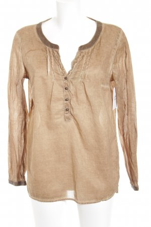 s.Oliver Langarm-Bluse camel-creme Casual-Look