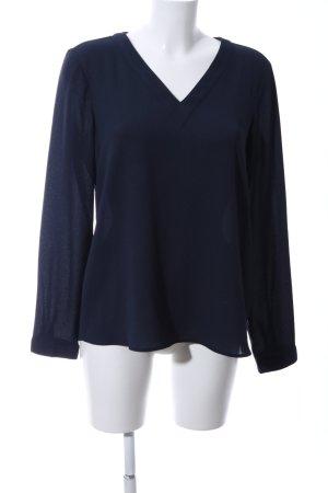 s.Oliver Langarm-Bluse blau Casual-Look