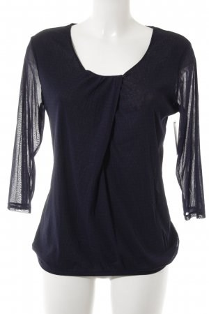 s.Oliver Langarm-Bluse dunkelblau-dunkelrot grafisches Muster Casual-Look