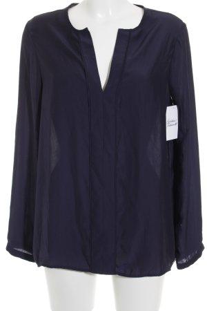 s.Oliver Langarm-Bluse dunkelblau Elegant