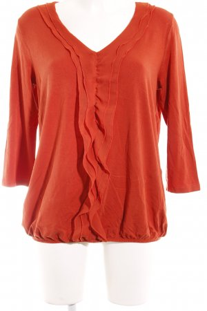 s.Oliver Langarm-Bluse dunkelorange Casual-Look