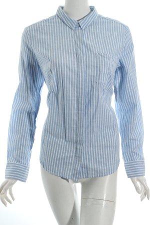 s.Oliver Langarm-Bluse himmelblau-weiß Streifenmuster Casual-Look