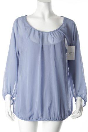 s.Oliver Langarm-Bluse kornblumenblau Casual-Look