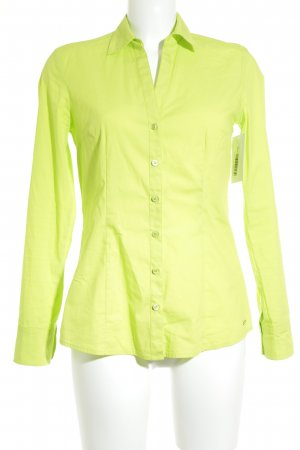 s.Oliver Langarm-Bluse neongrün Casual-Look
