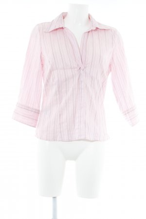 s.Oliver Langarm-Bluse rosa-schwarz Streifenmuster Casual-Look