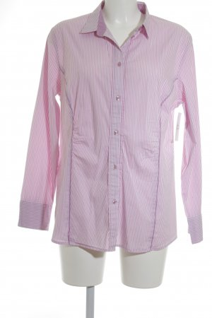 s.Oliver Langarm-Bluse rosa-weiß Streifenmuster Casual-Look