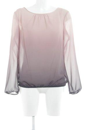 s.Oliver Blouse à manches longues rosé-gris gradient de couleur style simple