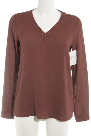 s.Oliver Langarm-Bluse rostrot schlichter Stil