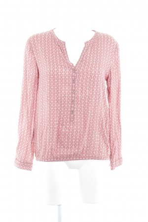 s.Oliver Langarm-Bluse rostrot-weiß abstraktes Muster Casual-Look