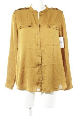 s.Oliver Langarm-Bluse sandbraun schlichter Stil