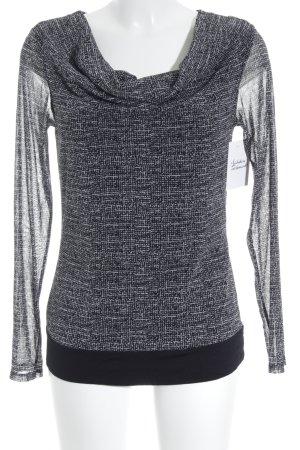 s.Oliver Langarm-Bluse schwarz-weiß Casual-Look