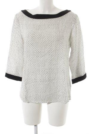 s.Oliver Langarm-Bluse schwarz-weiß Punktemuster
