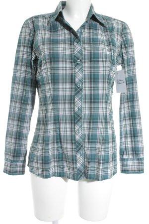 s.Oliver Shirt met lange mouwen cadet blauw-mauve geruite print simpele stijl