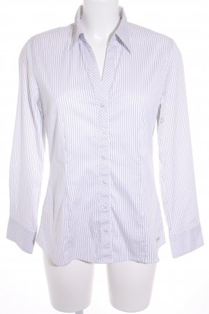 s.Oliver Long Sleeve Shirt white-black striped pattern classic style