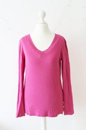 s.Oliver Langarmshirt mit V-Ausschnitt, pink