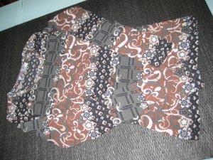 s.Oliver Langarmshirt transparent schwarz/braun
