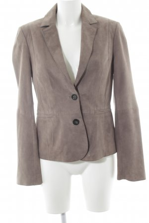 s.Oliver Leather Blazer light brown business style