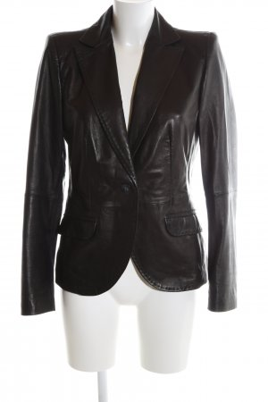 s.Oliver Leather Blazer black casual look
