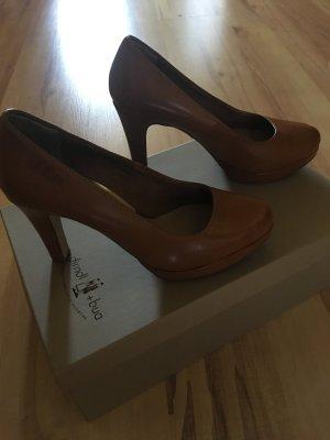 s.Oliver Lage schoenen cognac