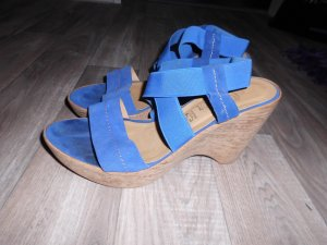 s.Oliver Leder Sandalen / Wedges royal blau Gr.39 top Zustand