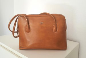S. Oliver Leder Tasche Retro Vintage braun
