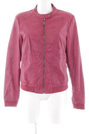 s.Oliver Lederjacke pink Casual-Look