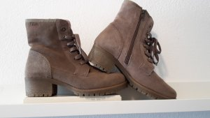 s.Oliver Lace-up Booties beige suede