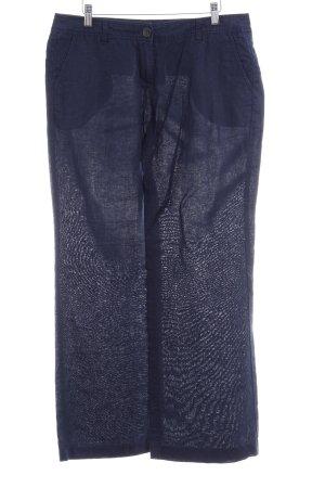 s.Oliver Leinenhose dunkelblau Casual-Look