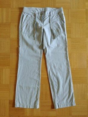 s.Oliver Linen Pants light grey mixture fibre