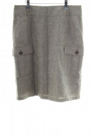 s.Oliver Linen Skirt light grey flecked casual look