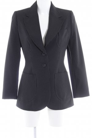 s.Oliver Long-Blazer schwarz-weiß Business-Look
