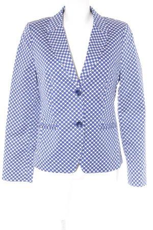 s.Oliver Long-Blazer weiß-blau Punktemuster Brit-Look