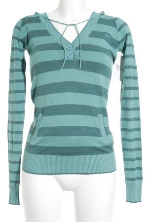 s.Oliver Longsleeve hellgrün-waldgrün Streifenmuster sportlicher Stil