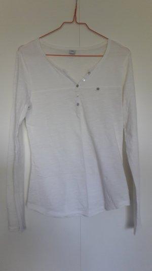 s.Oliver Longsleeve Henley-Shirt langarm wollweiß Gr. 36