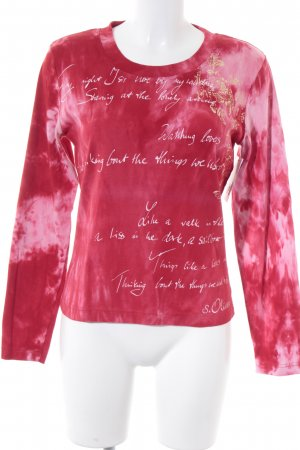 s.Oliver Longsleeve magenta-rosa Farbverlauf Casual-Look