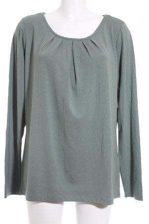s.Oliver Longsleeve waldgrün minimalistischer Stil