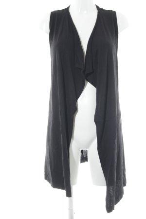 s.Oliver Gilet long tricoté noir style décontracté