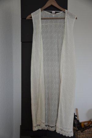 s.Oliver Longweste in weiß Gr. L aus Baumwolle