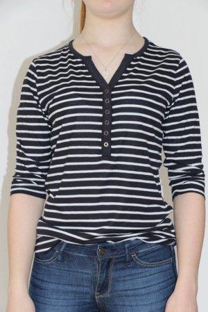 s.Oliver Gestreept shirt wit-donkerblauw Katoen