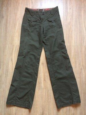 s.Oliver Pantalón de color caqui verde oscuro tejido mezclado