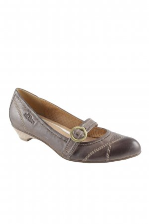 s.Oliver Chaussures Mary Jane gris brun style simple