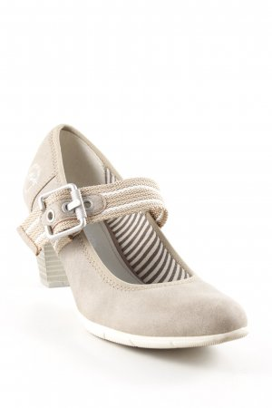 s.Oliver Mary Jane Pumps grey brown casual look
