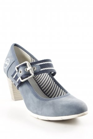 s.Oliver Mary Jane Pumps steel blue-white casual look