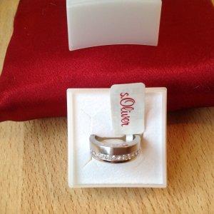 s.Oliver Zilveren ring zilver-wit